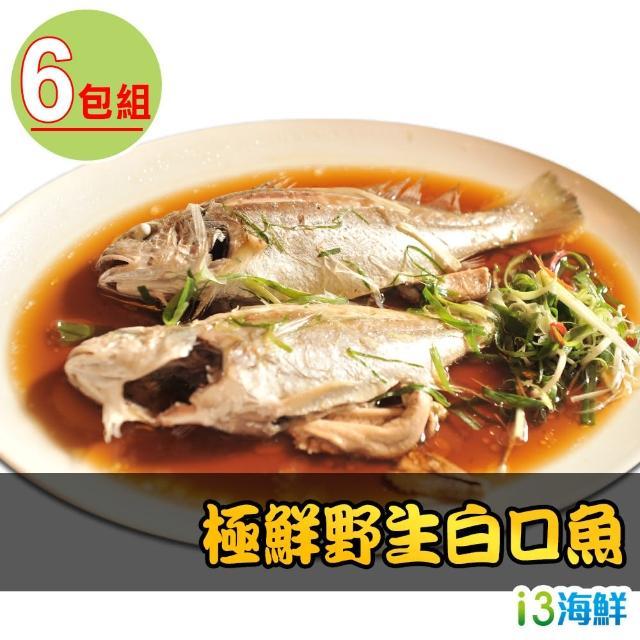 【愛上海鮮】極鮮野生白口魚6包組(270g±10%/包/兩尾/包)