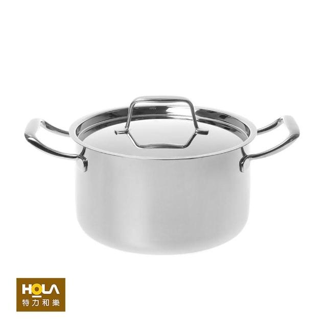 【HOLA】316經典複合不鏽鋼雙耳湯鍋22cm