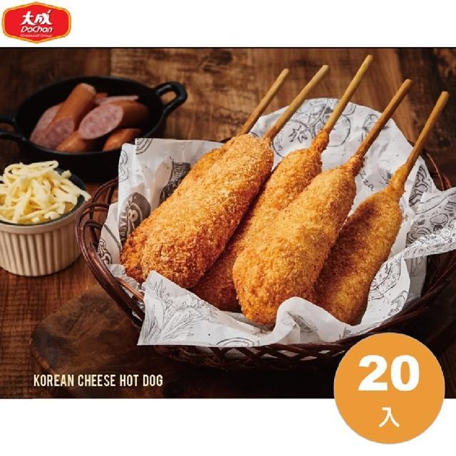 【大成】貝可坊︱韓式起司熱狗 20支/組(80g/支)︱大成食品(韓國 起士 夜市 小吃)