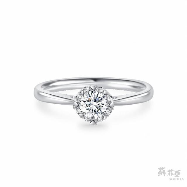 【蘇菲亞珠寶】費洛拉S GIA 0.30克拉E_VS2 18K白金 鑽石戒指