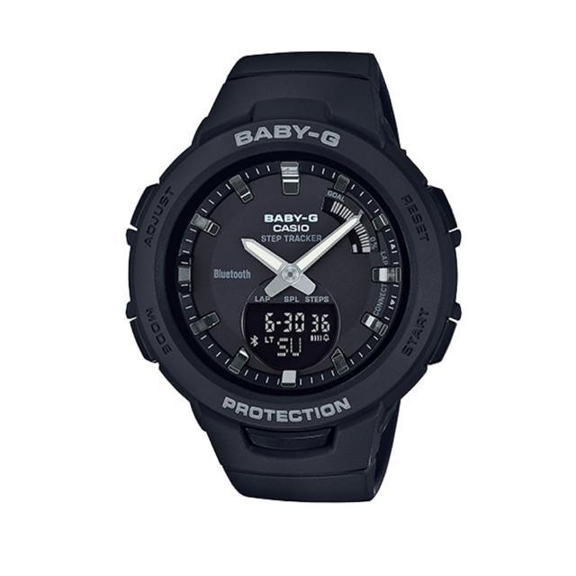 【CASIO 卡西歐】藍芽多功能雙顯錶(BSA-B100-1ADR)