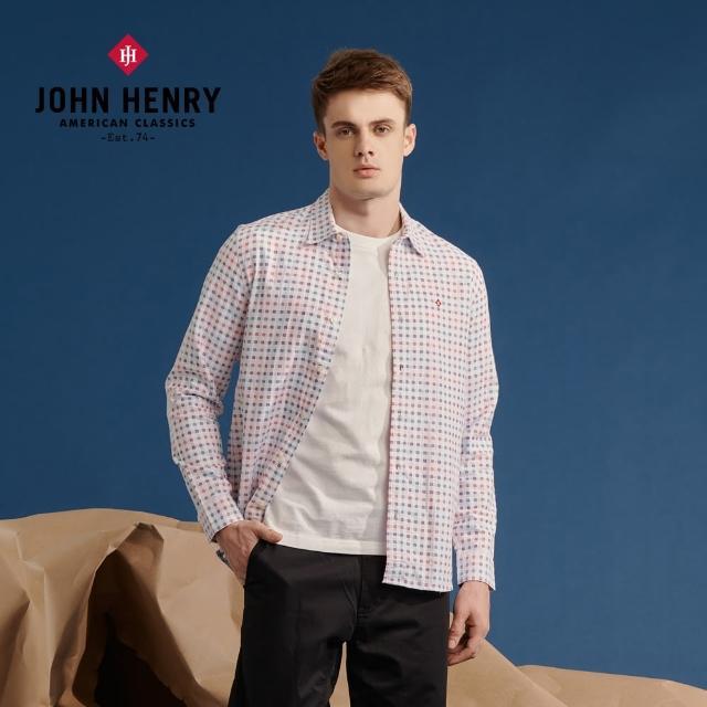 【JOHN HENRY】彩色格紋長袖襯衫