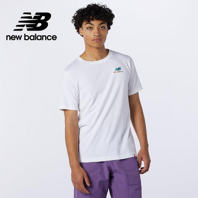 【NEW BALANCE】NB 左胸NB短袖T_男款_白色_MT11592WT(美版)