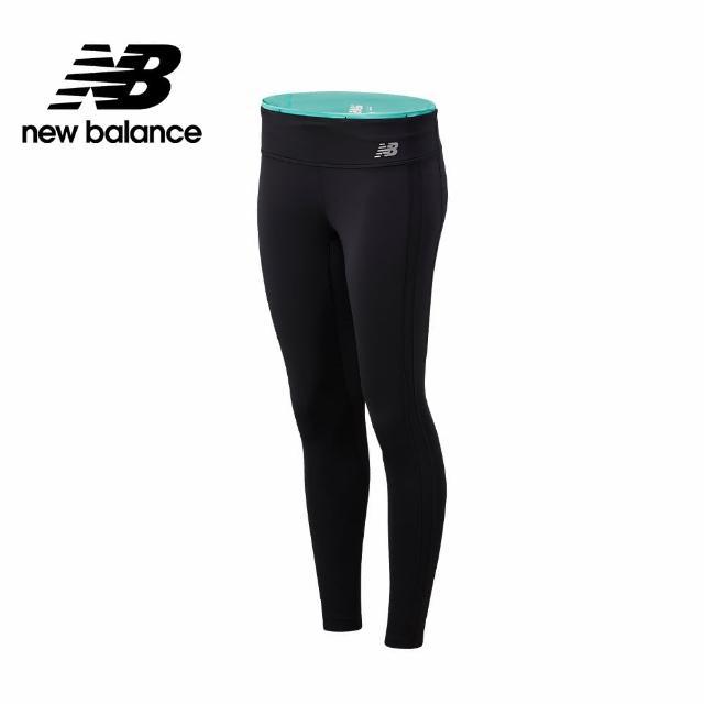 【NEW BALANCE】NB 側邊色塊緊身褲_女款_黑綠配色_WP11218SUJ(美版 版型偏大)