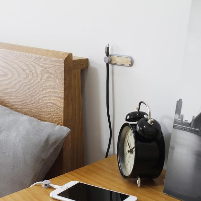 【防疫必備】原木 磁吸集線器套組 集線器 磁吸集線器 充電線 收納(集線器(附3夾扣))