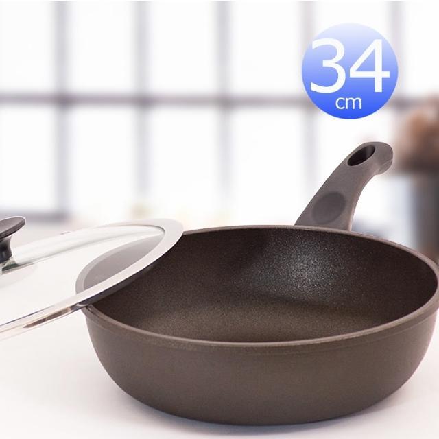 【UNICOOK優樂】樂廚深型平底鍋附蓋(34cm)
