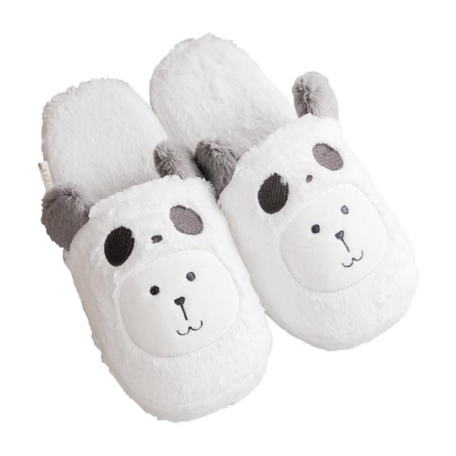 【CRAFTHOLIC 宇宙人】灰熊貓兔兔室內拖鞋(熊貓Q版系列)