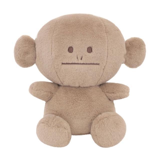 【CRAFTHOLIC 宇宙人】馬卡龍咖啡猴坐姿大抱枕(馬卡龍系列)