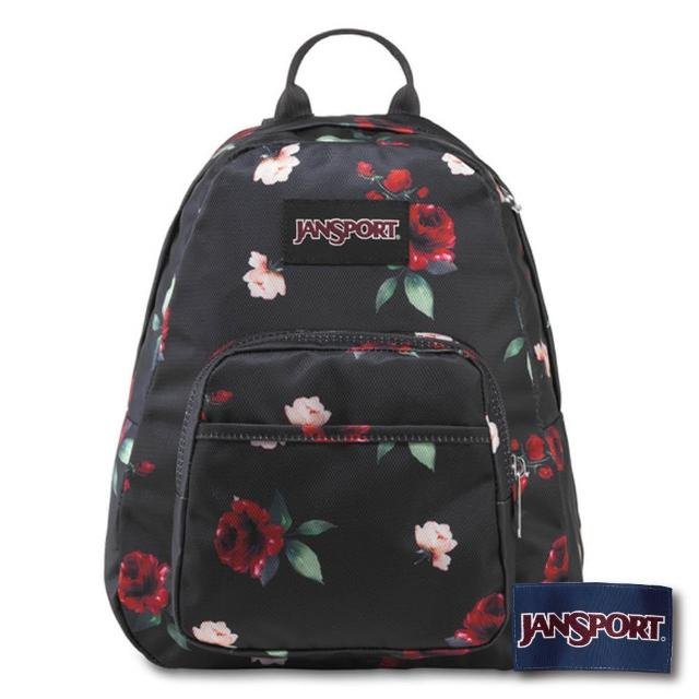 【JANSPORT】Half Pint Fx 系列小款後背包(黑與玫瑰)