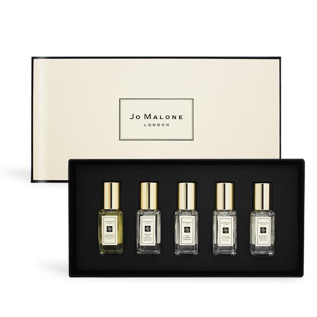 【Jo Malone】熱銷款香水禮盒新版9mlX5(青檸羅勒+小蒼蘭+牡丹+藍風鈴+鼠尾草-國際航空版)