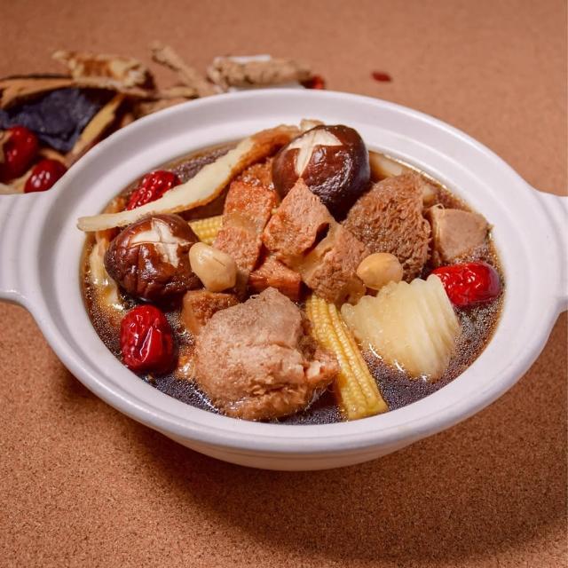 【莊淑旂養生莊園】素月子燉湯滋補-3號餐(素食燉湯)