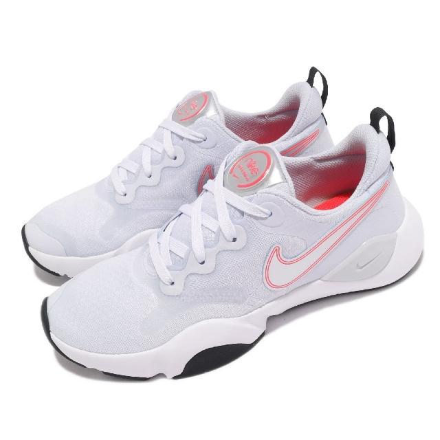 【NIKE 耐吉】訓練鞋 SpeedRep 運動 女鞋 健身房 避震 支撐 包覆 球鞋 灰 白(CU3583-007)