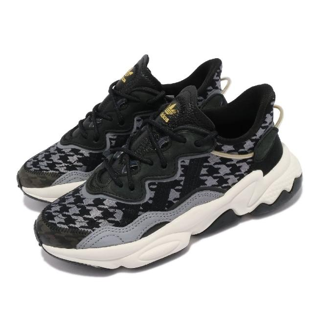 【adidas 愛迪達】休閒鞋 Ozweego W 運動 反光 女鞋 愛迪達 輕量 透氣 舒適 避震 穿搭 黑 灰(FV9757)