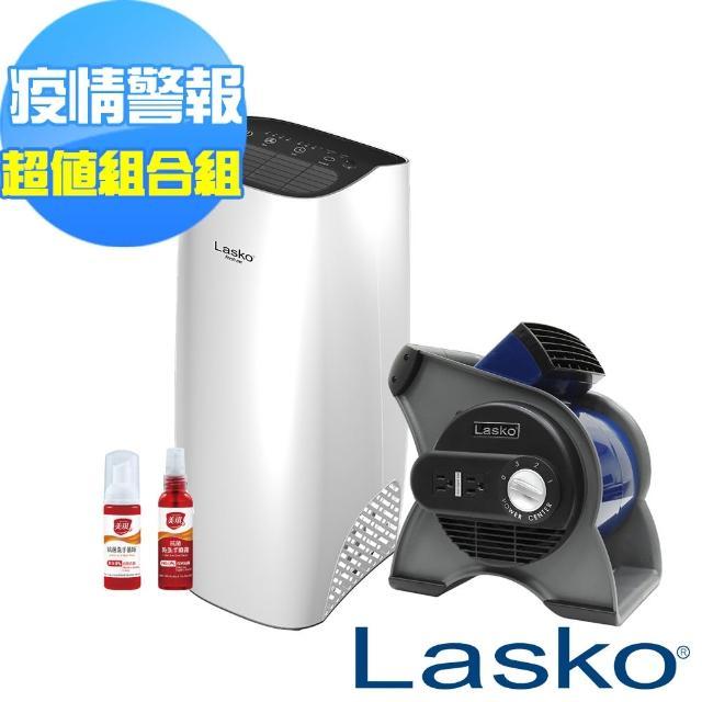 【Lasko】藍爵星渦輪循環風扇U12100TW+白淨峰高效節能空氣清淨機 HF-2162防疫優惠組(優惠至6月底)