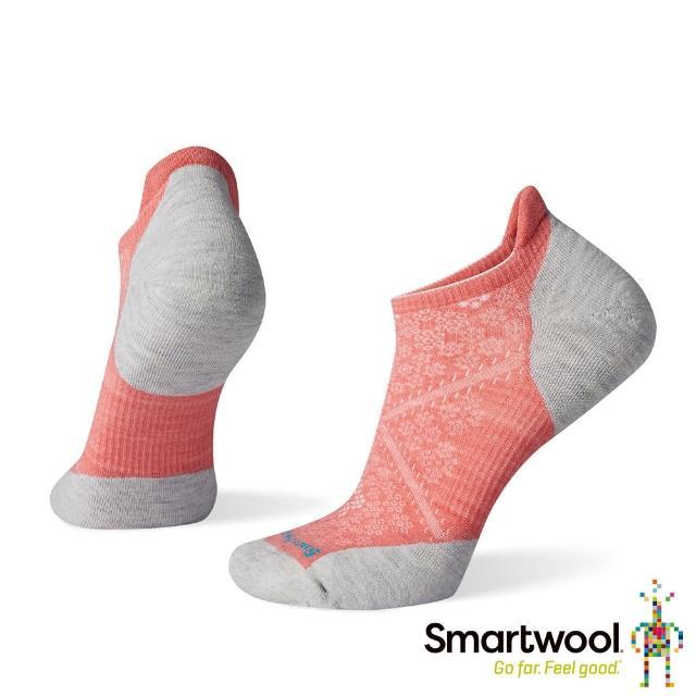 【SmartWool】女 PhD機能跑步局部輕量減震踝襪(亮珊瑚粉)