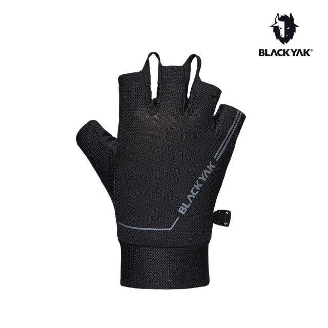【BLACK YAK】MESH透氣半指手套[黑色]BYAB1NAN03(韓國 耐磨防滑 手套 半指手套)