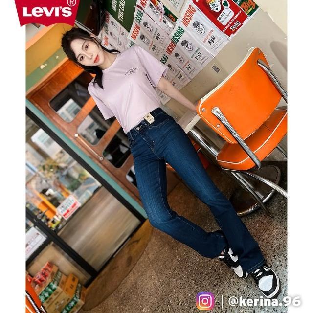 【LEVIS】女款 315中腰縮腹修身靴型牛仔長褲 / 精工深藍染水洗 / 彈性布料-熱銷單品