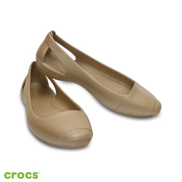 【Crocs】女鞋 女士仙安娜平底鞋(202811-710)