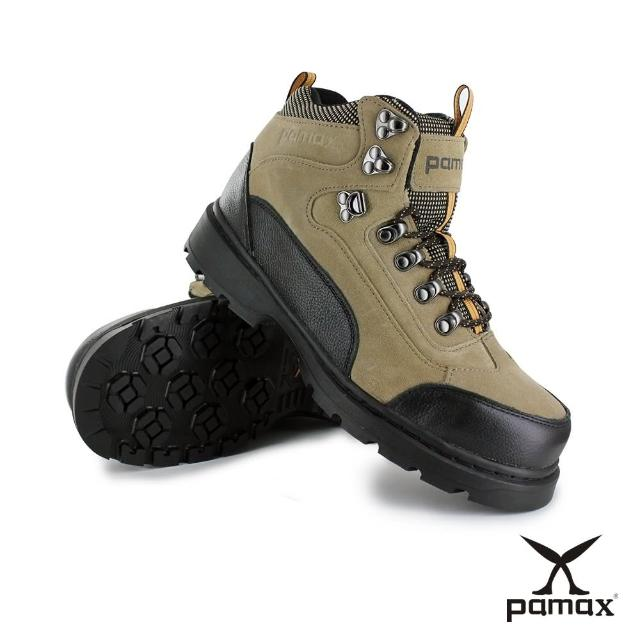 【PAMAX 帕瑪斯】戶外休閒型止滑安全工作靴/反光設計/頂級氣墊(PW0315FEH 米 / 男)