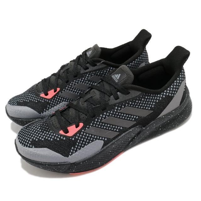 【adidas 愛迪達】慢跑鞋 X9000L2 運動休閒 男鞋 愛迪達 路跑 科技風跑鞋 穿搭推薦 黑 灰(EH0030)