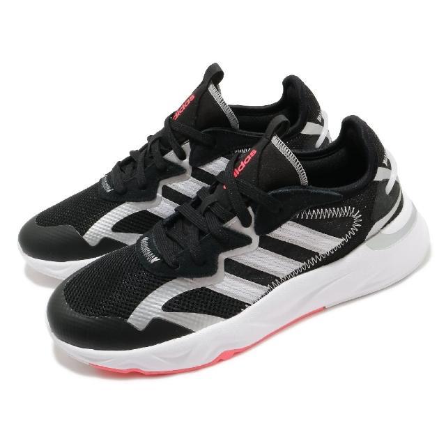 【adidas 愛迪達】慢跑鞋 Futureflow 運動休閒 女鞋 愛迪達 路跑 輕量 透氣 穿搭 黑 白(FW7185)