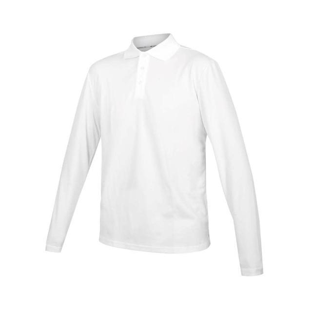 【HODARLA】男女星際吸濕排汗長袖POLO衫-台灣製 慢跑 休閒 上衣 高爾夫 白(3161305)