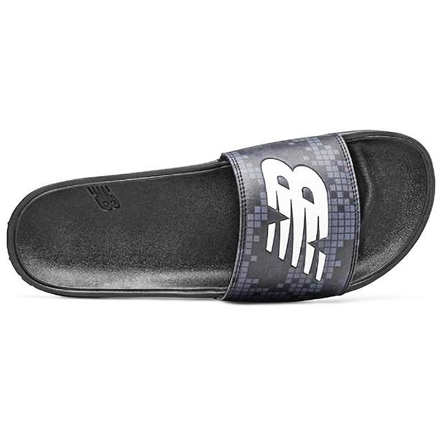 【NEW BALANCE】NB 拖鞋 男女鞋 運動 黑 男款 女款 情侶拖鞋(SMF200BW)