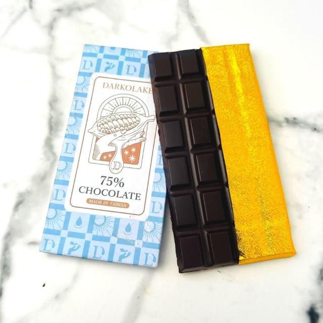 【多儂莊園工坊】75% 黑巧克力 3大片 bar(微甜 黑巧克力 Darkolake)