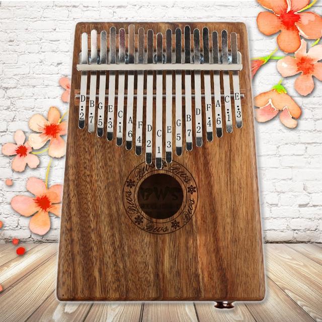 【美佳音樂】Kalimba 卡林巴琴/拇指琴-超值全配.17音EQ相思木單板(贈旅行包/音箱)
