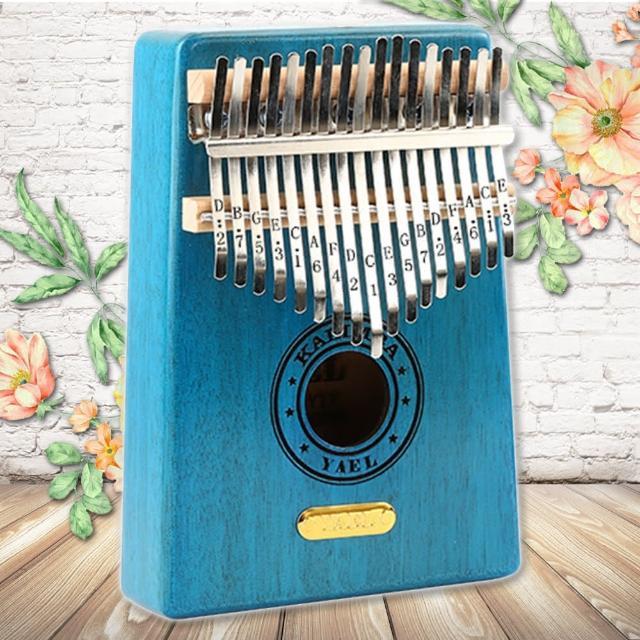 【美佳音樂】Kalimba 卡林巴琴/拇指琴-超值全配.17音桃花芯木單板-金標/天空藍(贈旅行包)