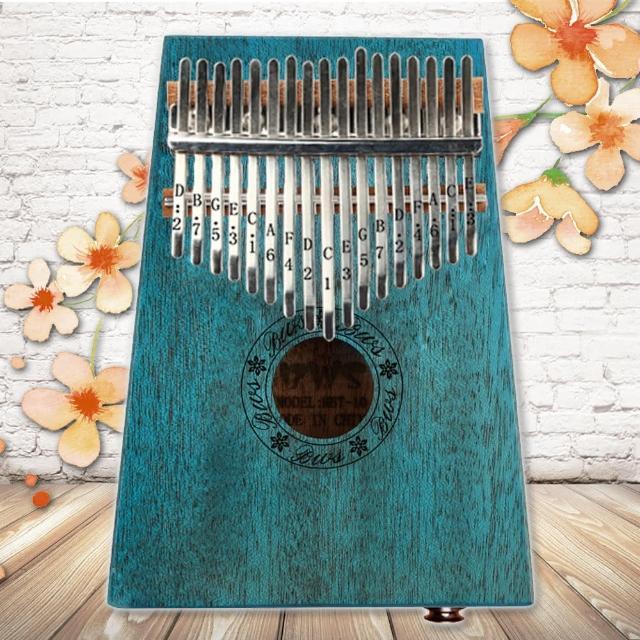 【美佳音樂】Kalimba 卡林巴琴/拇指琴-超值全配.17音EQ桃花芯木單板-翡翠色(贈旅行包/音箱)