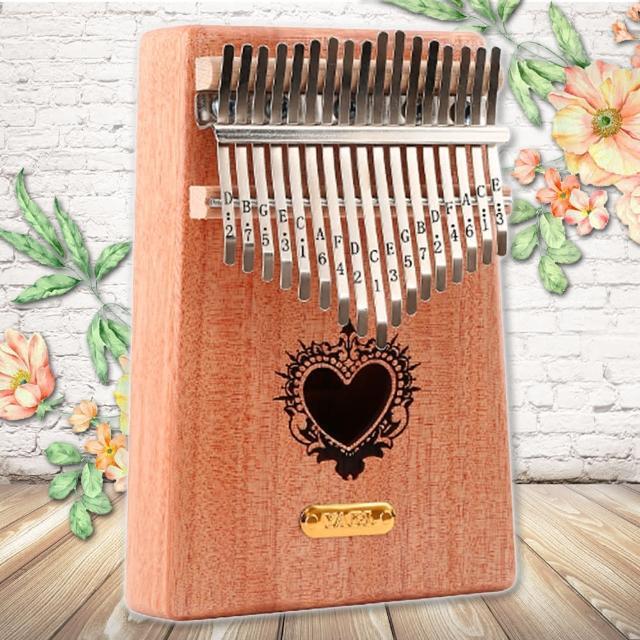 【美佳音樂】Kalimba 卡林巴琴/拇指琴-超值全配.17音桃花芯木單板-金標/心苗(贈旅行包)