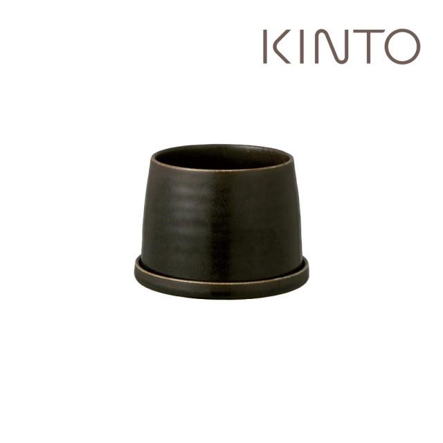 【Kinto】PLANT POT 192 陶瓷花盆11cm-黑