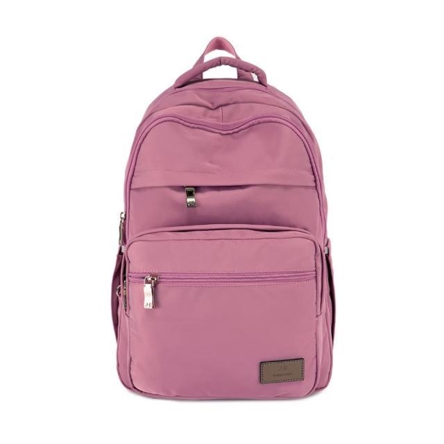 【J II】後背包-無限多隔層防潑水後背包-莓果粉-6377-23(後背包)