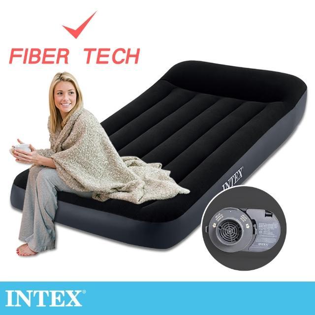 【INTEX】舒適單人加大FIBER TECH內建電動幫浦充氣床-寬99cm(64145ED)