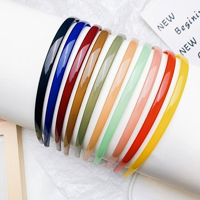 【89 zone】韓國氣質果凍色細髮箍/髮飾 3 入(不挑款/混色隨機出貨)
