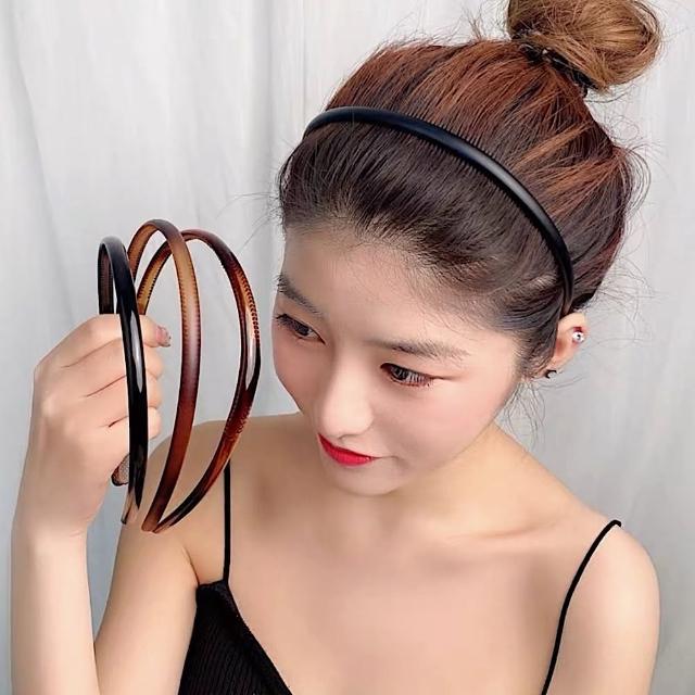 【89 zone】韓國氣質簡約基礎細髮箍/髮飾 3 入(不挑款/混色隨機出貨)