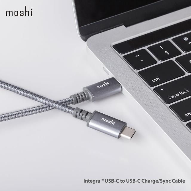 【moshi】Integra 強韌系列USB-C to USB-C 耐用充電/傳輸編織線(快充線)