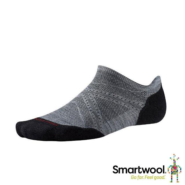 【SmartWool】PhD機能跑步局部輕量減震踝襪(淺灰/黑)