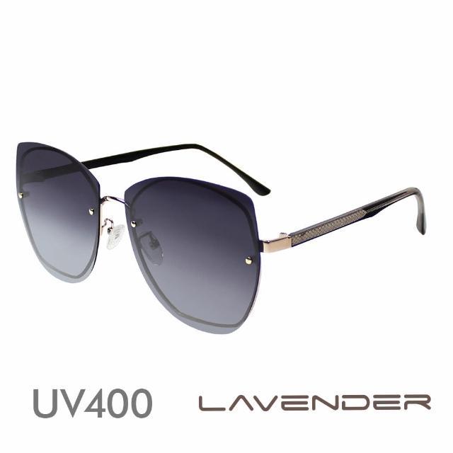 【Lavender】多邊形個性鏡腳 漸層灰紫 12103-C1(偏光太陽眼鏡)