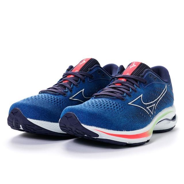 【MIZUNO 美津濃】WAVE RIDER 25 男款 慢跑鞋 跑鞋 輕量 減震(J1GC210325)