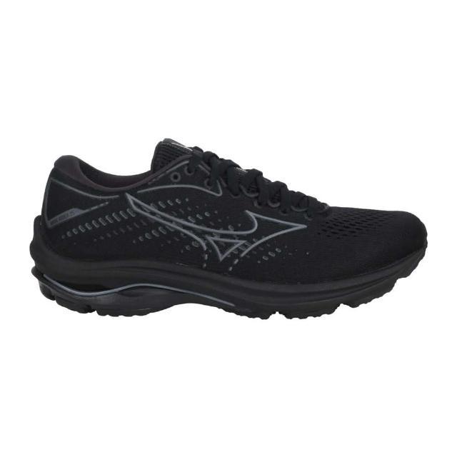 【MIZUNO 美津濃】WAVE RIDER 25 女慢跑鞋-路跑 運動 避震 美津濃 黑灰(J1GD210335)