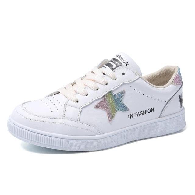【Taroko】星星元素真牛皮繫帶板鞋(3色可選)
