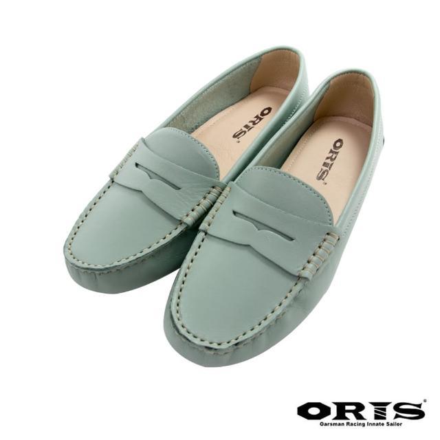 【oris 帆船鞋】海鷗鏤空紳士休閒鞋-蘋果綠-S1655N17(真皮/手工/休閒鞋/懶人鞋)