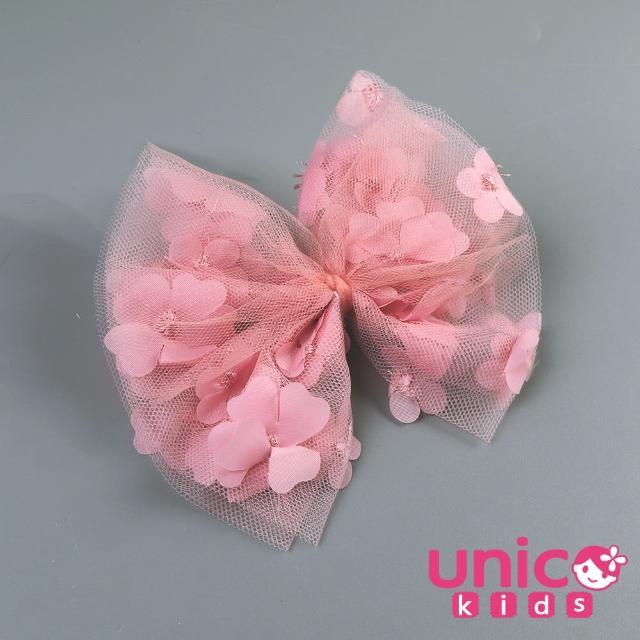 【UNICO】兒童 冰雪奇緣ELSA風粉色甜美公主系列髮夾/髮飾(飾品/配件/冰雪奇緣/粉色)