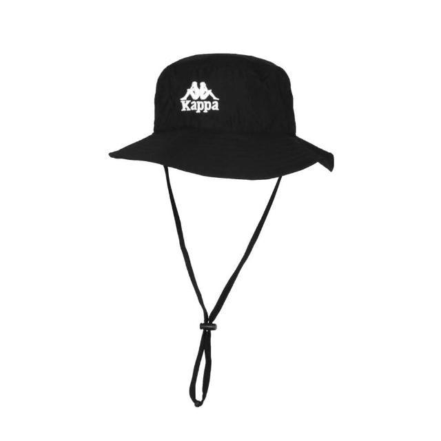 【KAPPA】漁夫帽-防曬 遮陽 運動 帽子 黑白(32186KW-005)