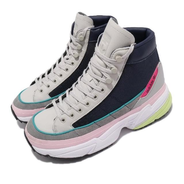 【adidas 愛迪達】休閒鞋 Kiellor XTRA 運動 女鞋 愛迪達 戶外穿搭 舒適 厚底 增高 球鞋 灰 藍(EF9096)