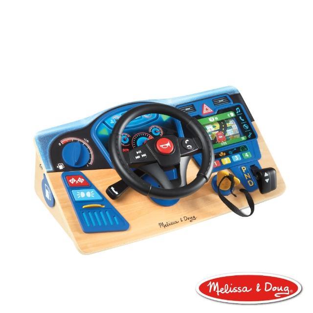 【Melissa & Doug 瑪莉莎】叭叭! 開車遊戲聲光方向盤(仿真儀表板、模擬駕駛操作、動感 GPS)