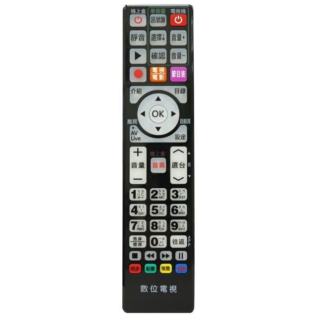 【全區版】第四台有線電視數位機上盒遙控器 MOD-5000(黑色 2入組)