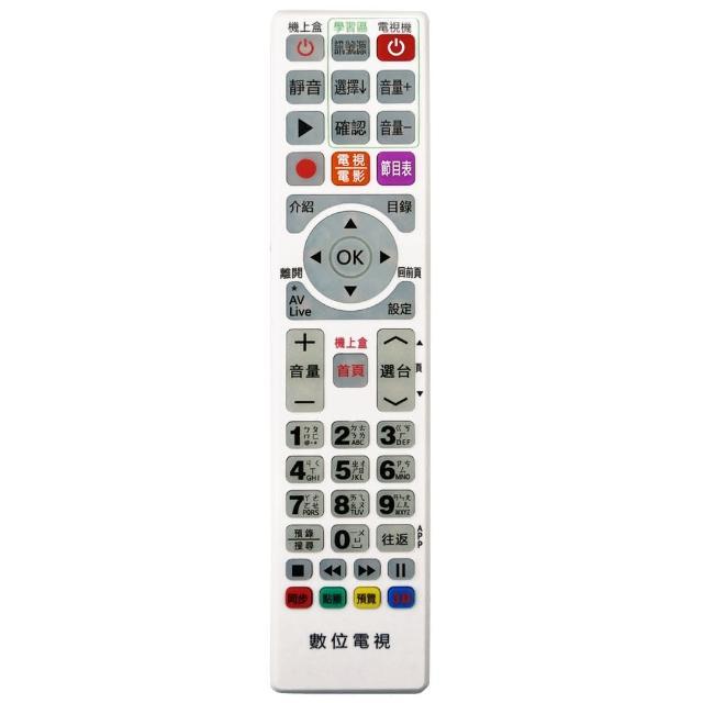 【全區版】第四台有線電視數位機上盒遙控器 MOD-4000(白色 3入組)